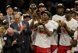 Toronto Raptors levou o primeiro título em sua história Foto: Kelvin Kuo / USA TODAY Sports