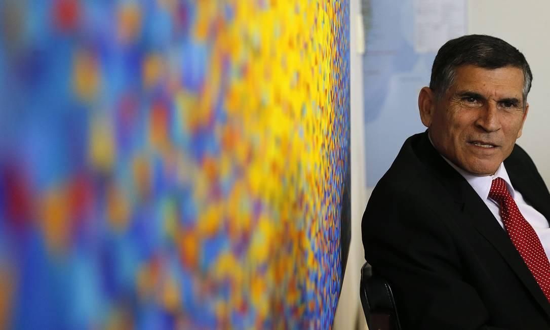 O general Santos Cruz, ex-ministro Secretaria de Governo da Presidência, concede entrevista em Brasília Foto: Jorge William 23/05/2019 / Agência O Globo