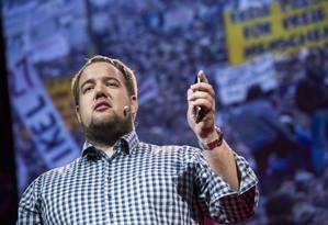Malte Spitz é integrante do Partido Verde alemão e fundador da Sociedade para Liberdades Civis. Foto: Divulgação TEDGlobal / James Duncan Davidson (27/06/2012)