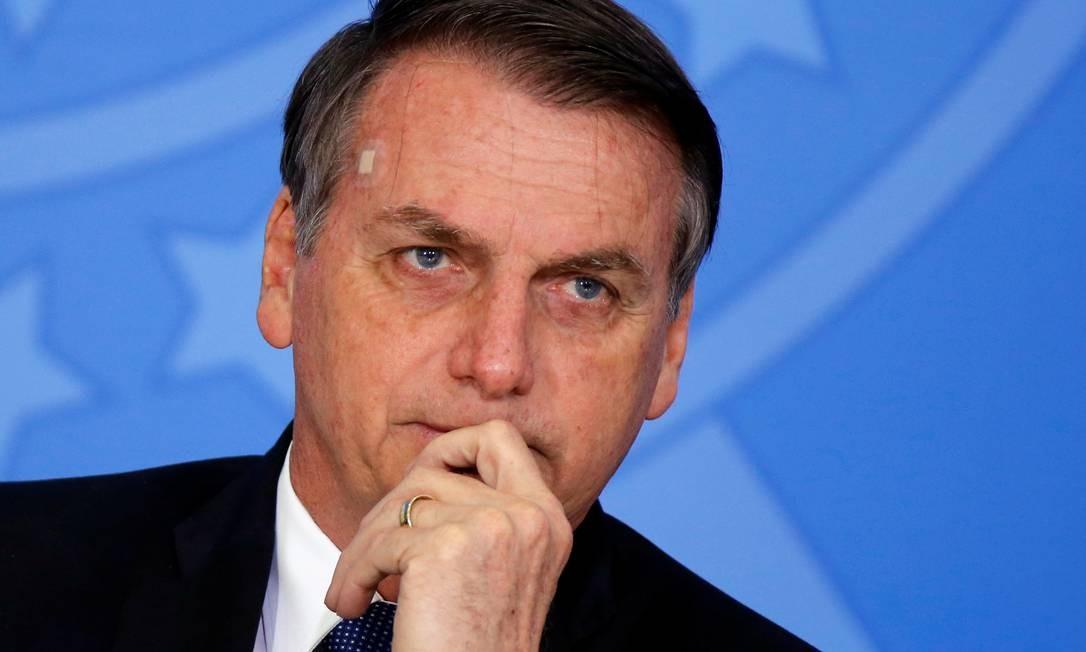O presidente Jair Bolsonaro no Palácio do Planalto Foto: Adriano Machado / Reuters