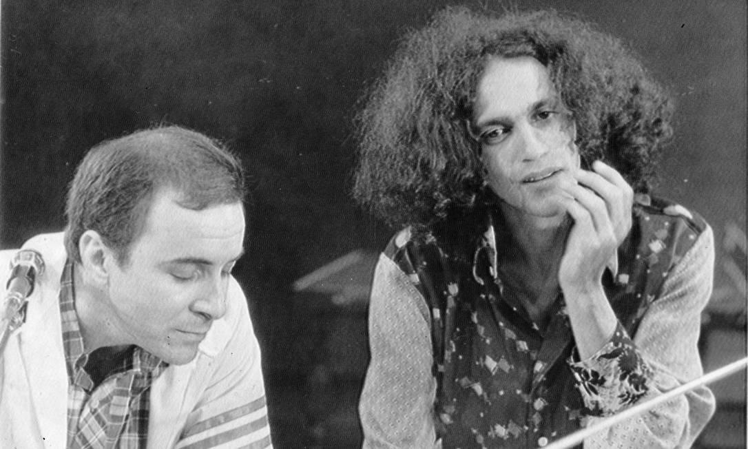 João Gilberto e Caetano Veloso, em 1971 Foto: Arquivo / Agência O Globo