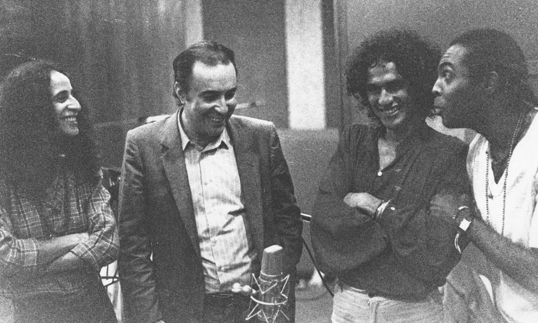 """Baianos unidos. Em 1981, João gravou o disco """"Brasil"""", com Maria Bethania, Caetano Veloso e Gilberto Gil Foto: Rogério Sganzela / Divulgação"""