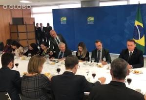 O general Heleno,chefe do Gabinete de Segurança Institucional (GSI), comenta a entrevista do ex-presidente Lula Foto: Reprodução