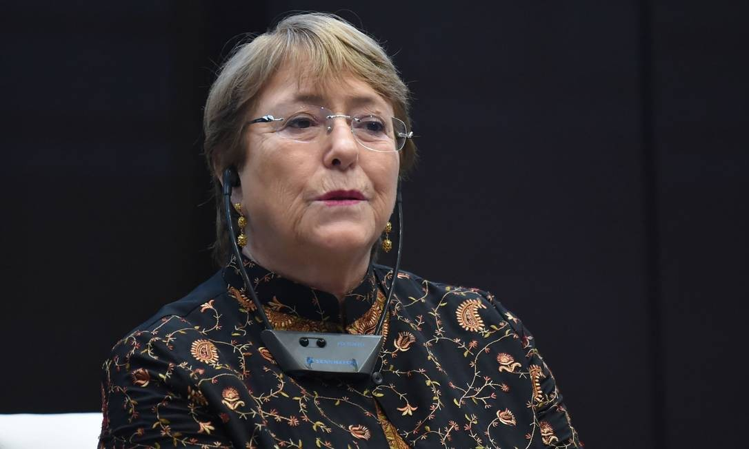 """UN High Commissioner for Human Rights, Michelle Bachelet, addresses a symposium titled """"AHD al-Aman"""" in the Tunisian capital, Tunis, on June 13, 2019. (Photo by FETHI BELAID / AFP) Foto: FETHI BELAID / AFP"""