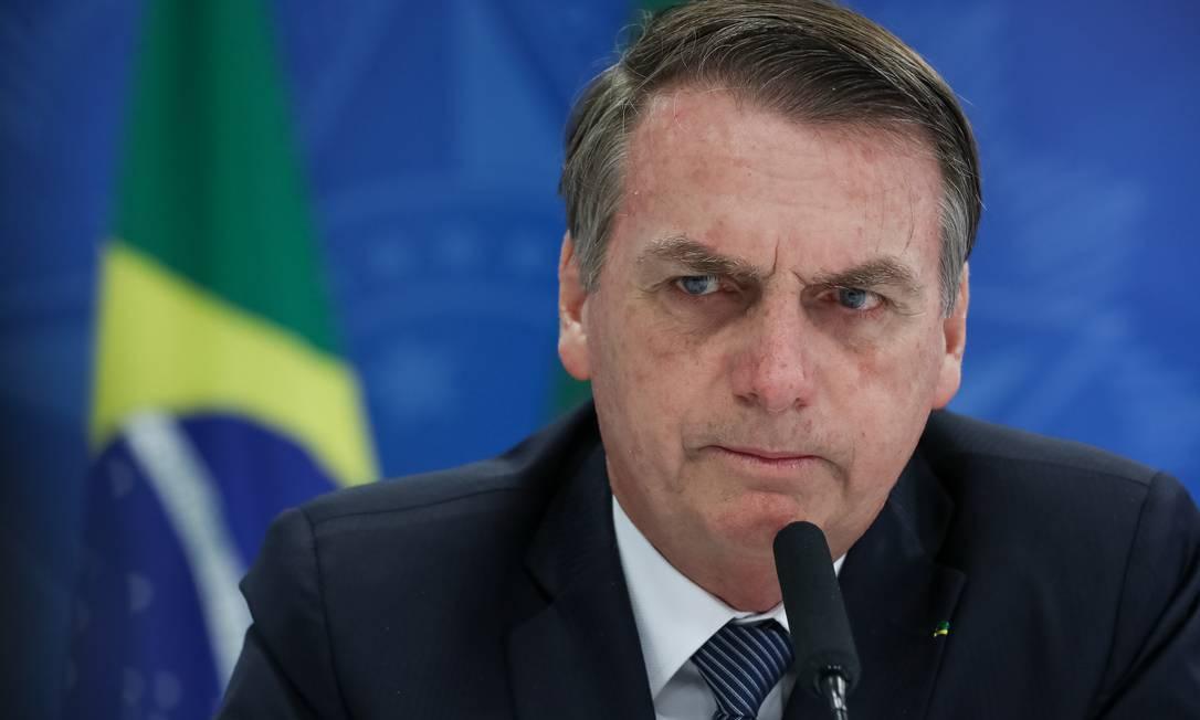 Presidente Jair Bolsonaro justificou que o empregador vai 'pensar duas vezes' para evitar problemas Foto: Marcos Corrêa/Presidência