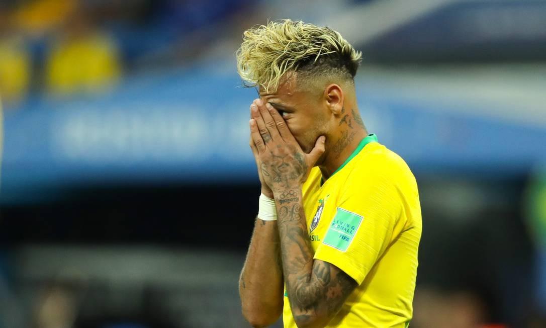 Neymar durante partida entre Suíça e Brasil na Copa do Mundo de 2018 Foto: Matthew Ashton - AMA / Getty Images