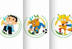 Os mascotes da Copa América de que você não se lembra Foto: Conmebol/Divulgação