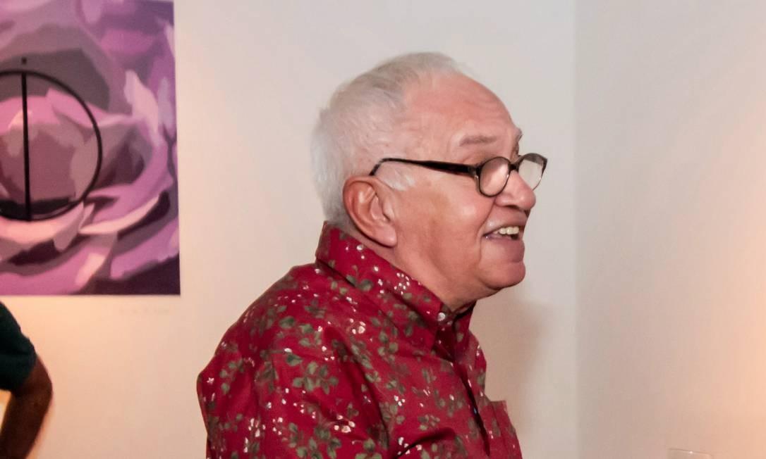 Óscar Ramos em 2014, na abertura de sua exposição no Rio Foto: Divulgação