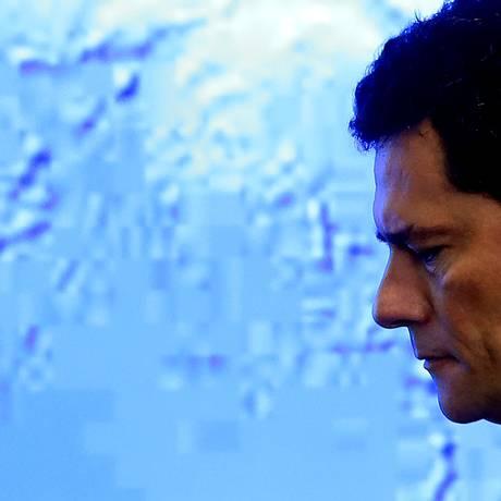 O ministro Sergio Moro Foto: Jorge William / Agência O Globo