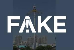 Vídeo é fake Foto: Reprodução