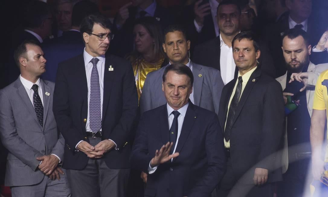Jair Bolsonaro foi ao Morumbi para acompanhar o jogo entre Brasil e Bolívia Foto: Edilson Dantas / Agência O Globo