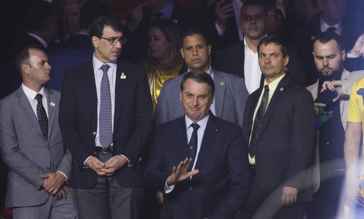 Jair Bolsonaro foi ao Morumbi para acompanhar o jogo entre Brasil e Bolívia Foto: Edilson Dantas / 14/06/2019 / Agência O Globo