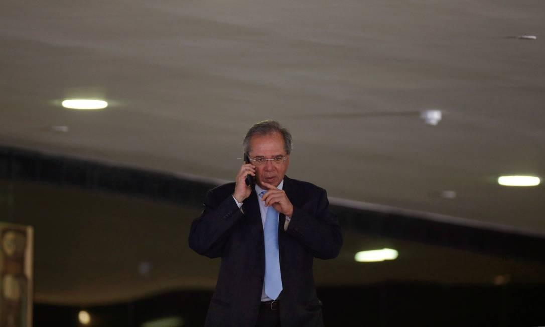 Levy entregou carta de demissão ao ministro da Economia, Paulo Guedes Foto: Adriano Machado / Reuters