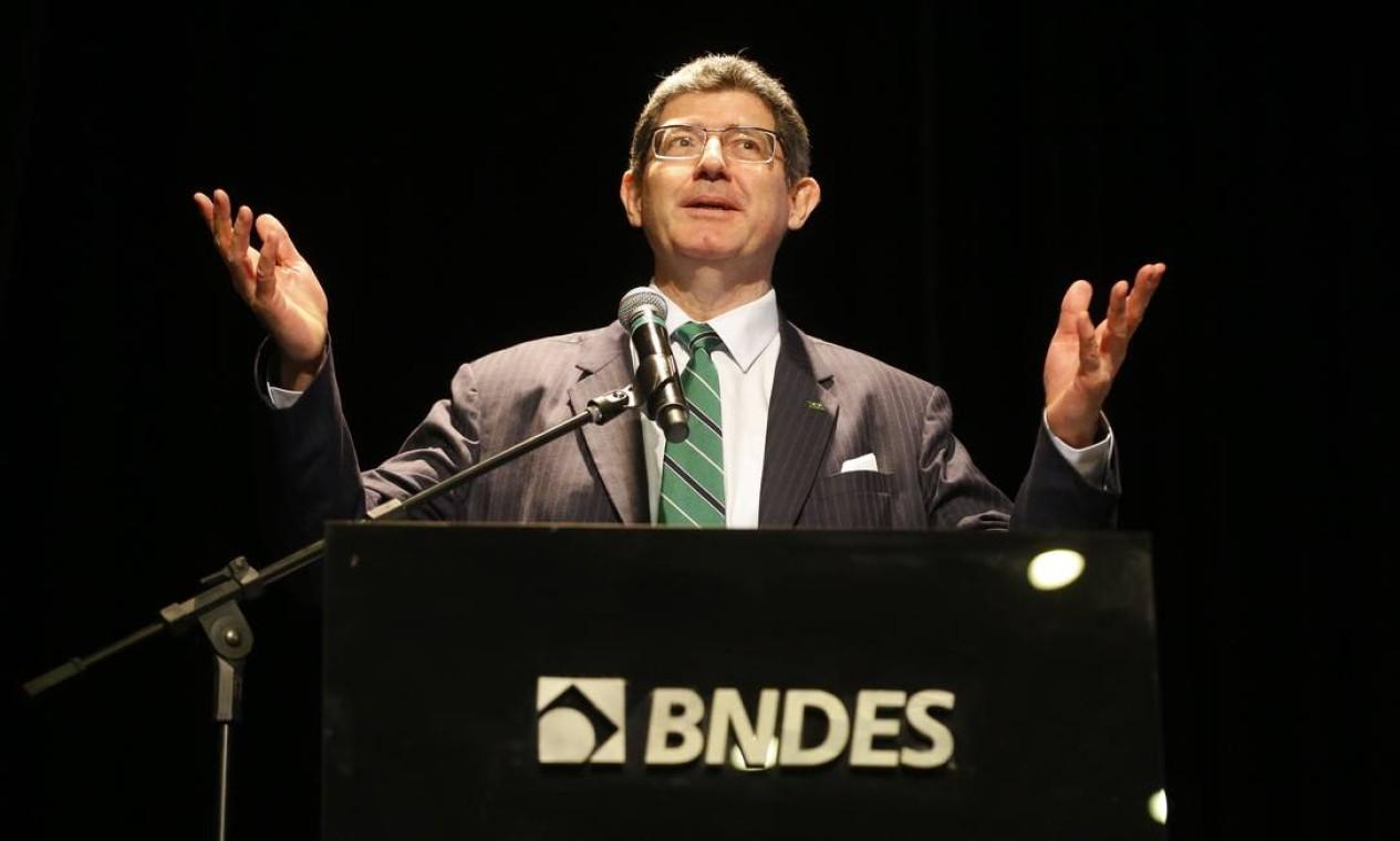 Joaquim Levy. Com sua demissão do BNDES, governo já contabiliza 19 baixas no segundo escalão Foto: Tânia Rêgo / Agência Brasil