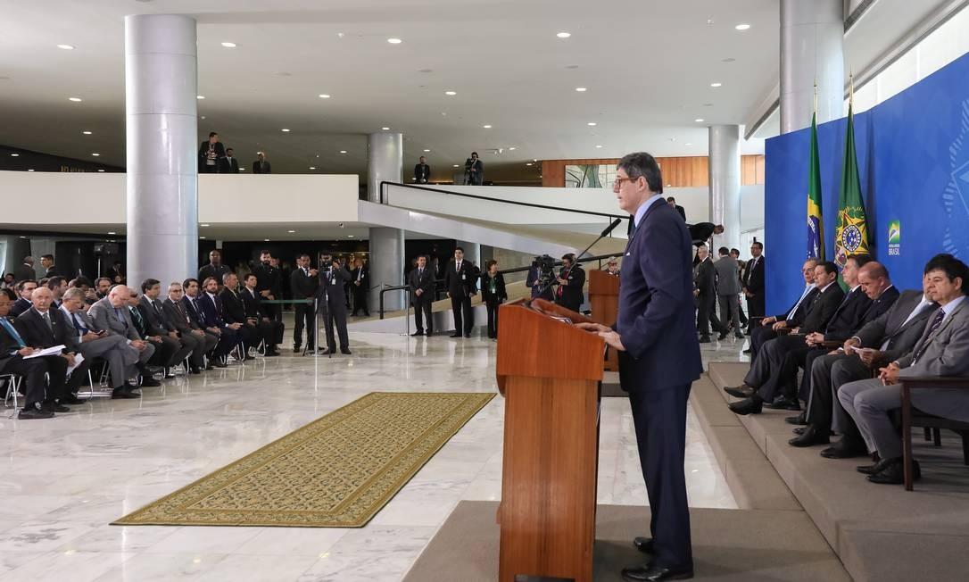 Último evento de Joaquim Levy à frente do BNDES Foto: Marcos Corrêa / PR