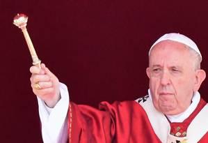 Papa Francisco em celebração no Vaticano, em junho Foto: ALBERTO PIZZOLI / AFP