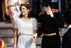 Michael Jackson e Lisa Marie Presley Foto: Patrick Robert - Corbis / Sygma via Getty Images