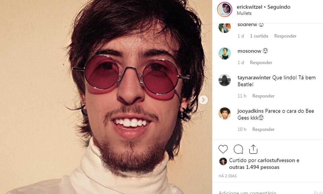 Erick Witzel também registra em seu perfil nas redes o tratamento com hormônios e os benefícios da alimentação vegana Foto: Reprodução / Instagram