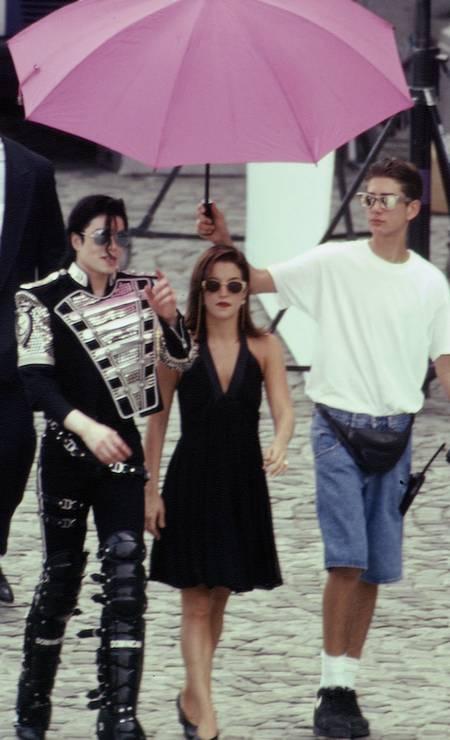 Michael Jackson e Lisa Marie Presley foram casados entre 1994 e 1996 Foto: Patrick Robert - Corbis / Sygma via Getty Images