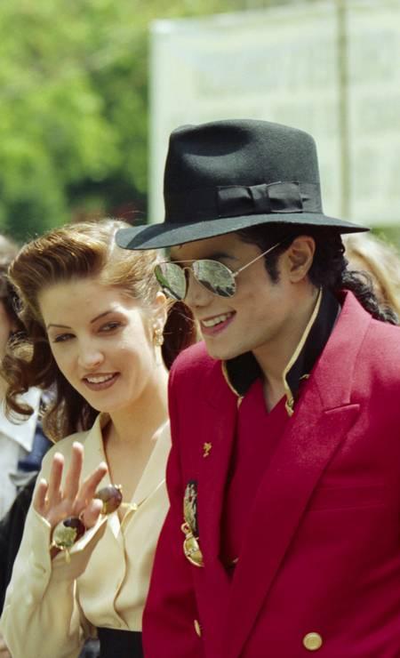 Michael Jackson e Lisa Marie Presley Foto: Steven D Starr / Corbis via Getty Images