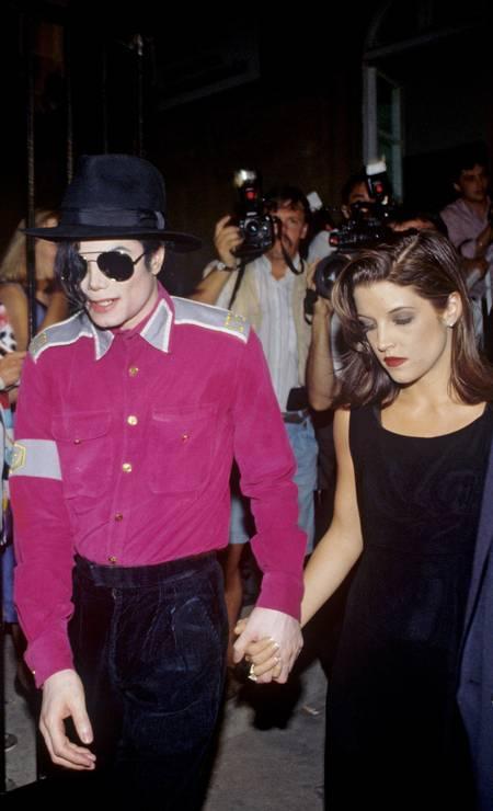 Michael Jackson e Lisa Marie Presley Foto: picture alliance / picture alliance via Getty Image