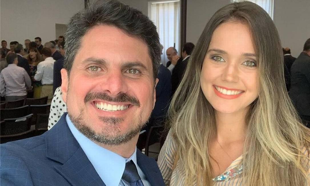 Senador Marcos do Val e sua namorada Brunella Miguez Foto: Reprodução Facebook