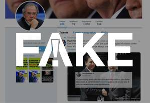É #FAKE post atribuído a Paulo Guedes com críticas a Glenn Greenwald Foto: Reprodução