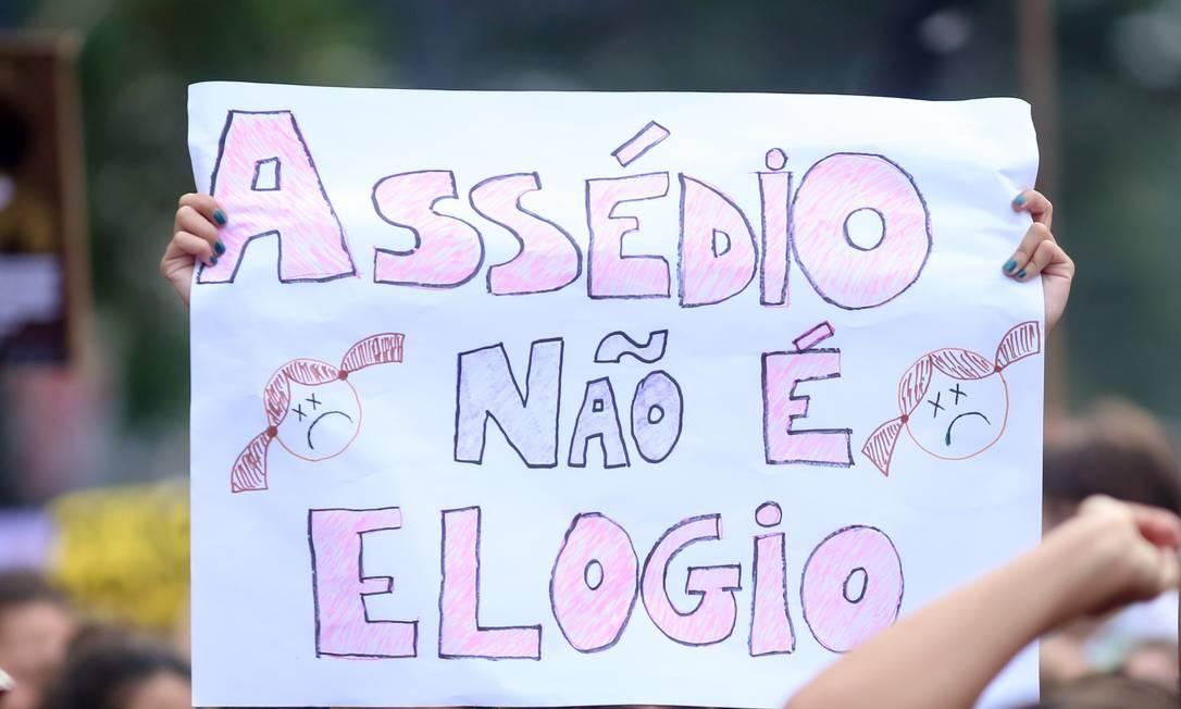 Protestos pelo dia da Mulher, em São Paulo Foto: Anadolu Agency / Getty Images