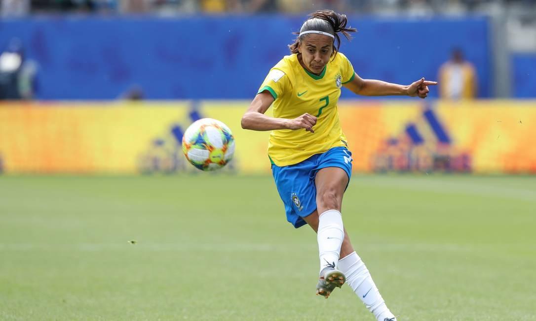 Andressa Alves está fora da Copa do Mundo após se lesionar no treino de ontem Foto: Rener Pinheiro / MoWA Press