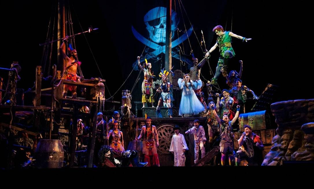 Cena de 'Peter Pan, o musical' Foto: João Caldas / Divulgação