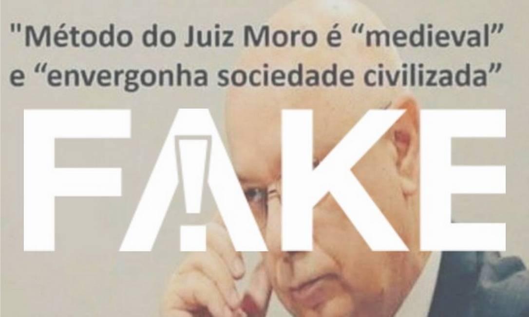 Publicação distorce texto em decisão do ex-ministro sobre Habeas Corpus em 2015 Foto: Reprodução/Facebook