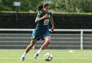 Andressa Alves sofreu lesão muscular e se declarou fora da Copa do Mundo Foto: Rener Pinheiro / Mowa Press