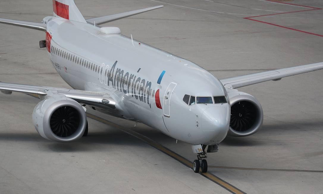 Um Boeing 737 Max 8: nova compra. Foto: JOE RAEDLE / AFP