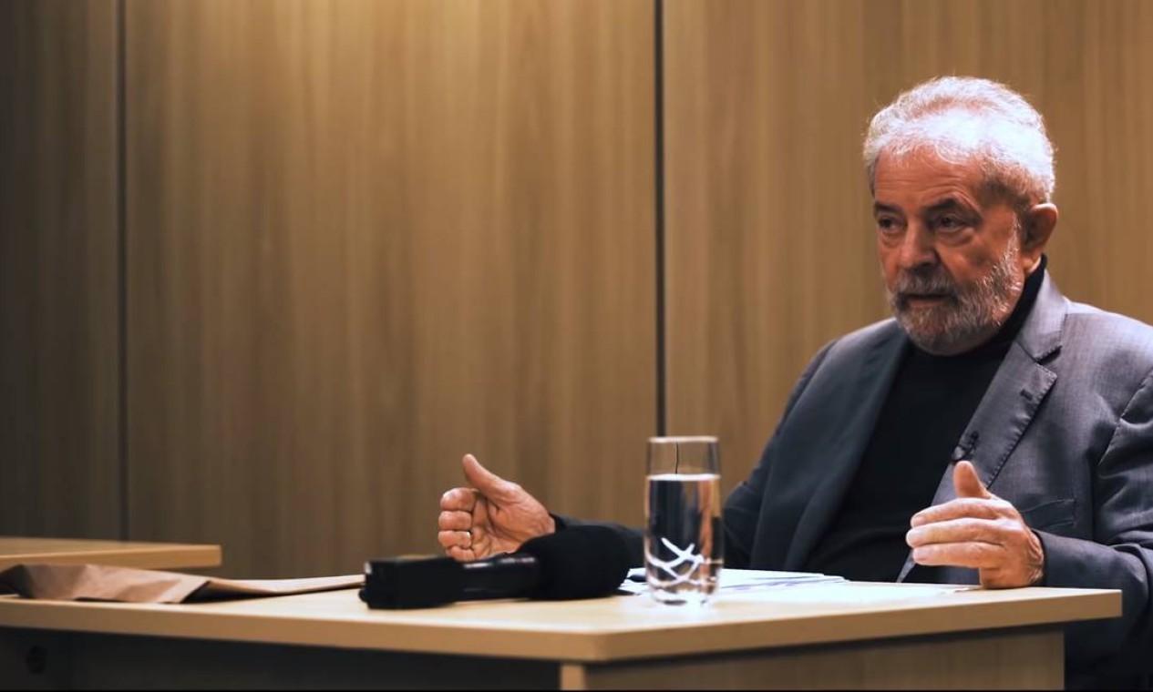 Lula concede outra entrevista no dia 15 de maio deste ano Foto: Reprodução