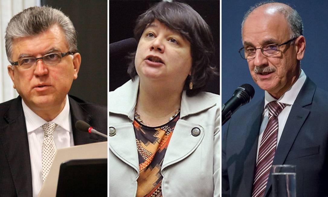 Candidatos à PGR, Mário Bonsaglia, Luizza Frischeisen e Blal Dalloul têm perfil ligado à área criminal Foto: Reprodução/ANPR