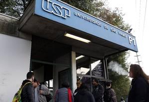 USP foi a universidade brasileira mais bem colocada no ranking global, que inclui mil instituições, e subiu duas posições Foto: Edilson Dantas / Agência O Globo
