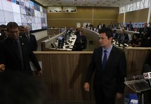 O ministro da Justiça, Sérgio Moro participa de solenidade de abertura da Operação Copa América 2019 Foto: Jorge William 14-06-2019 / Agência O Globo