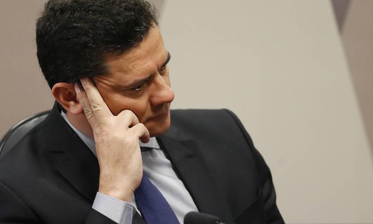Ele ressaltou que a investigação está em curso, mas revelou suspeitar que a invasão de celulares de procuradores e juízes seja obra de um grupo criminoso Foto: Jorge William / Agência O Globo