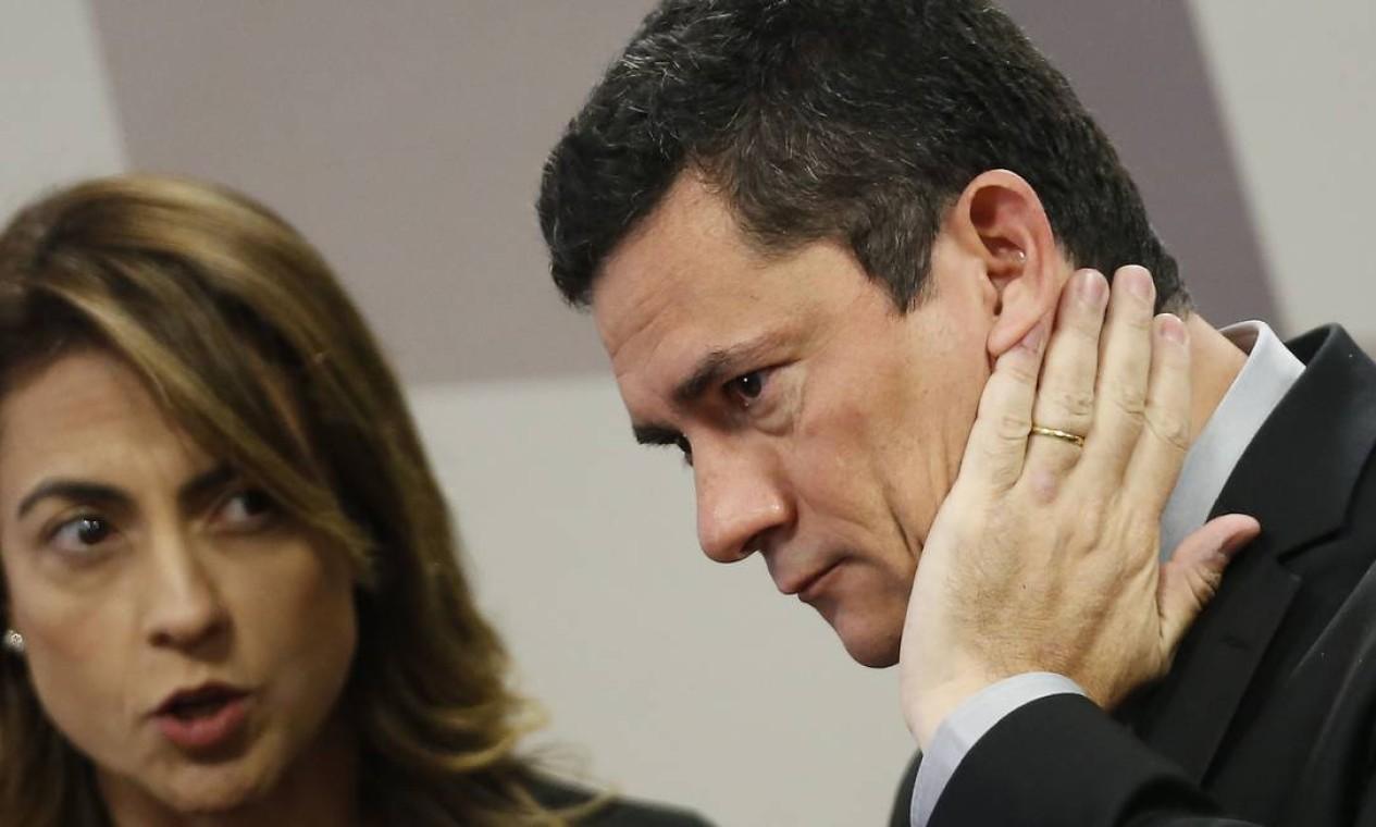 Moro relembrou à comissão que sofreu um ataque a seu celular, mas, até o momento, não tem evidências de que o conteúdo do aparelho foi acessado Foto: Jorge William / Agência O Globo