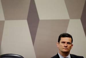 Ministro da Justiça, Sergio Moro fala à CCJ do Senado Foto: Jorge William 19/06/2019 / Agência O Globo