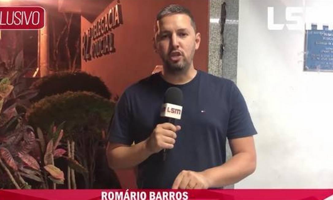 O jornalista Romário Barros, morto a tiros em Maricá Foto: Reprodução