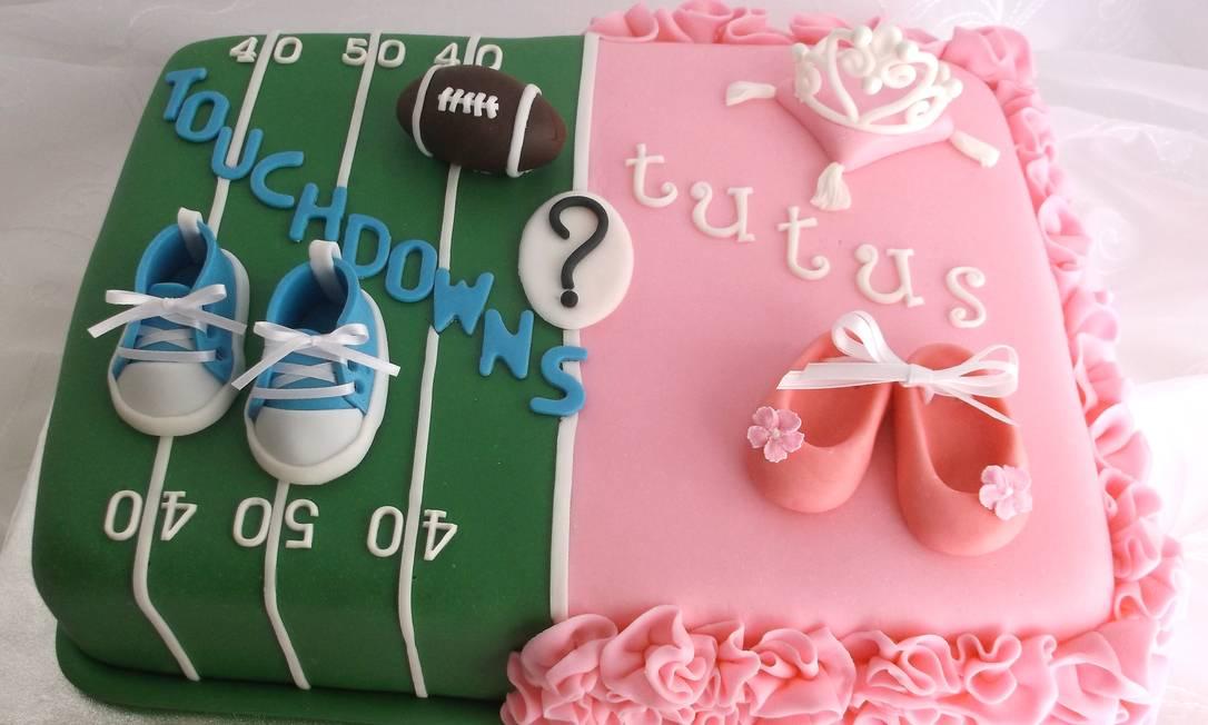 O bolo de revelação de sexo da Karen's Cake Shoppe Foto: KAREN'S CAKE SHOPPE / NYT