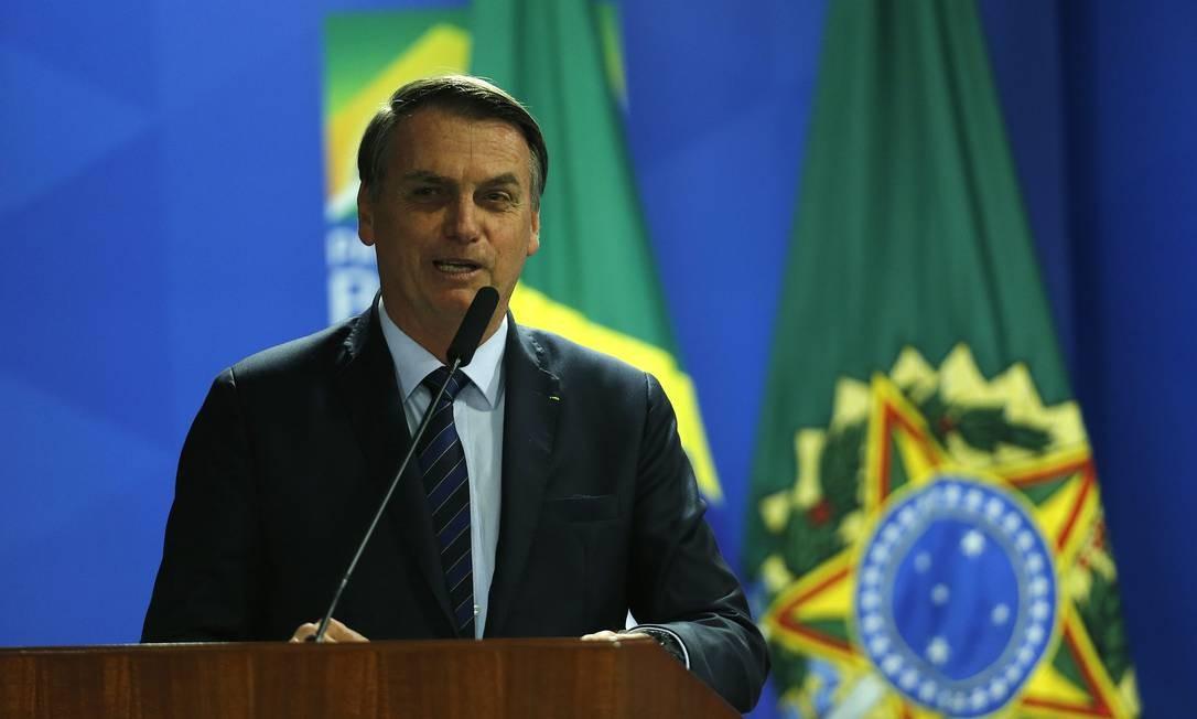 Jair Bolsonaro edita Medida Provisória (MP) alterando a estrutura da Presidência e dos ministérios Foto: Jorge William / Agência O Globo
