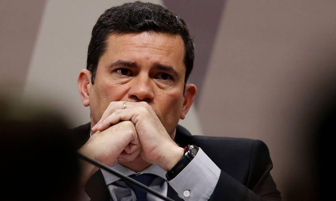 O ex-juiz e Ministro da Justiça Sergio Moro na CCJ do Senado Foto: Jorge William / Agência O Globo