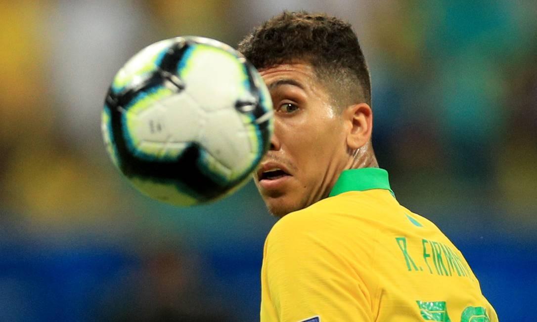Roberto Firmino, no jogo entre Brasil e Venezuela Foto: Buda Mendes / Getty Images