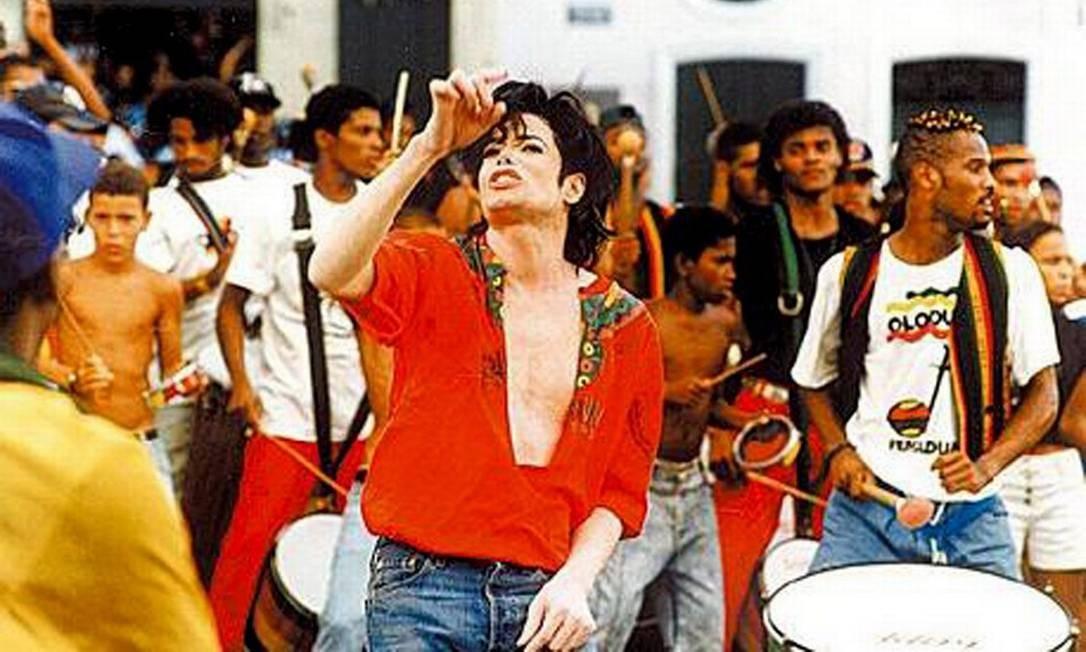 Gravação do clipe de Michael Jackson com o Olodum, no Pelourinho Foto: Divulgação