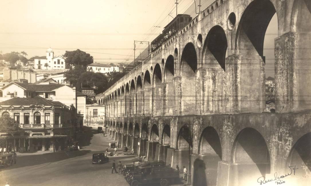 Arcos da Lapa, 1929. Foto: Augusto Malta / Acervo Light