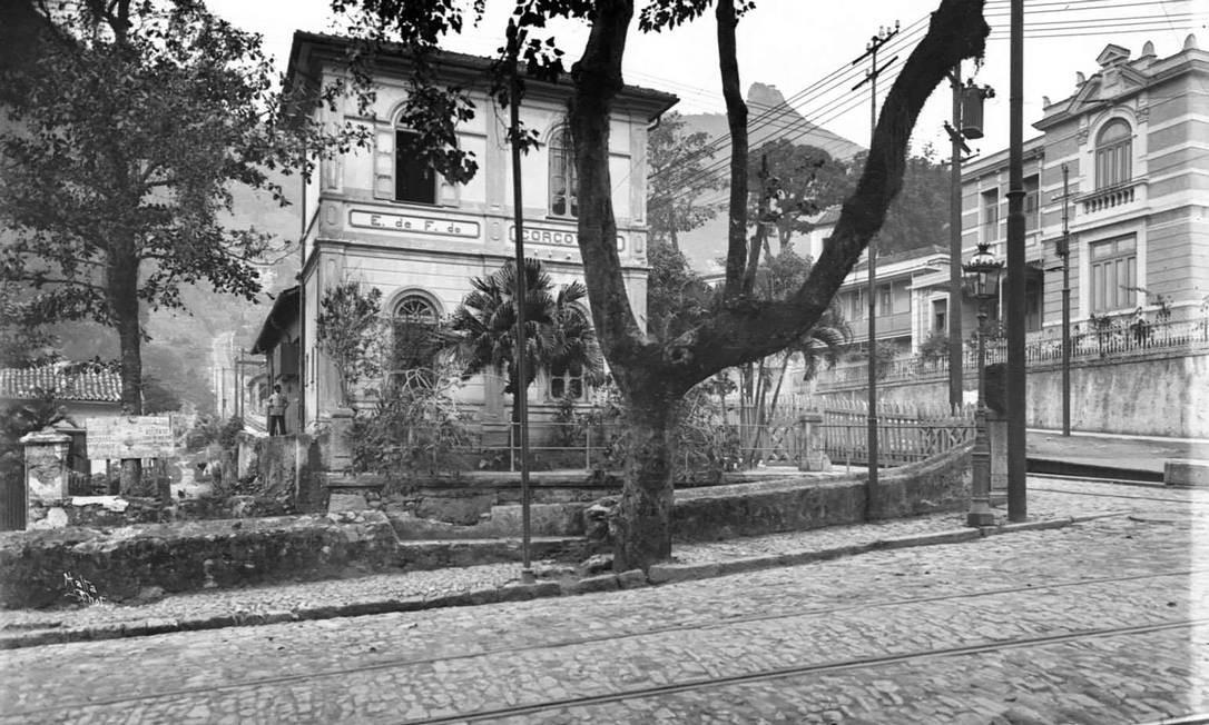 Estação Cosme Velho, 1907. Foto: Augusto Malta / Acervo Light