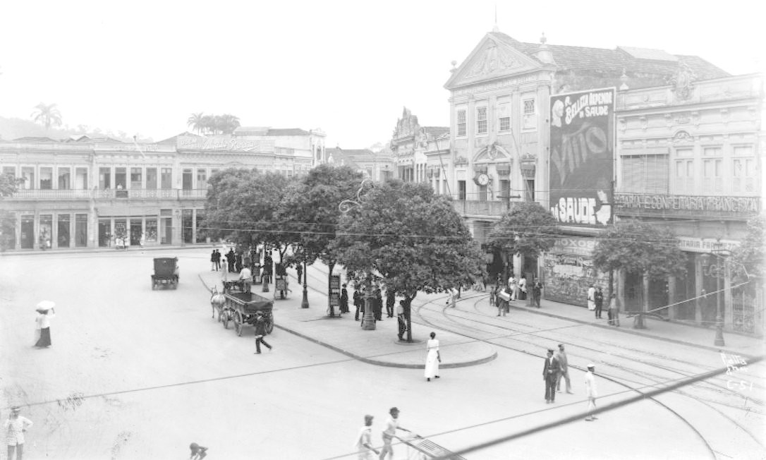 Largo do Machado,1907. Foto: Augusto Malta / Acervo Light