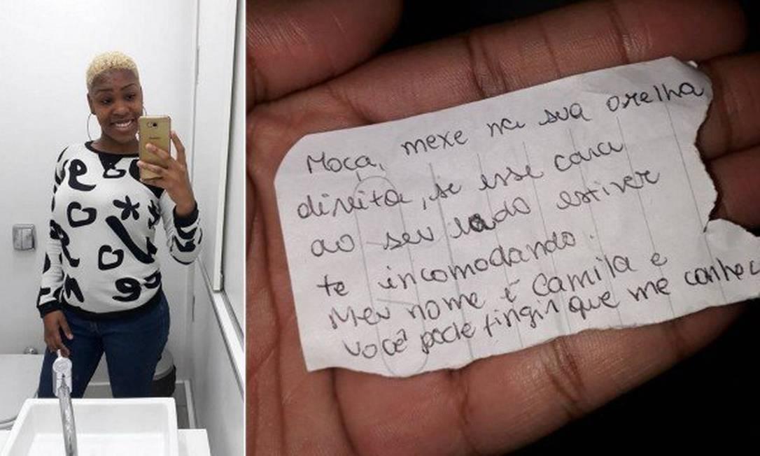 Mulher se livrou de assédio no ônibus após receber bilhete Foto: Reprodução